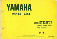 YAMAHA DT125E ORIGINAL ILLUS PARTS LIST BOOK 1978