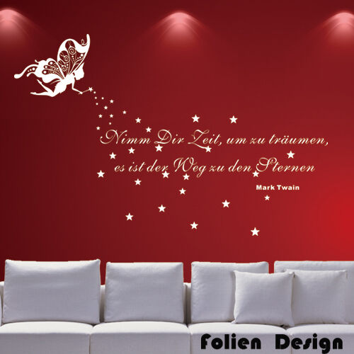 wandtattoo spruch zitat traum zeit 180x54cm wzt17 ebay. Black Bedroom Furniture Sets. Home Design Ideas