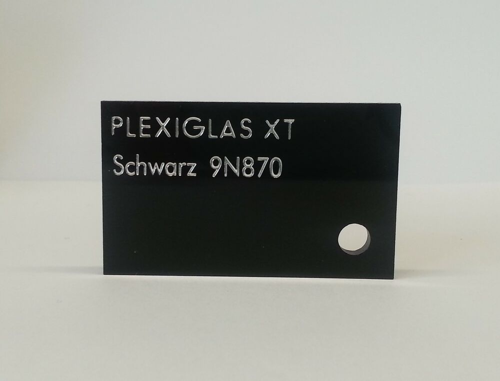 plexiglas acryl zuschnitt schwarz xt 2 mm ebay. Black Bedroom Furniture Sets. Home Design Ideas