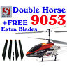 Double Horse 9053 RC Helicopter Gyro 3.5 Ch with Free Spare Blades