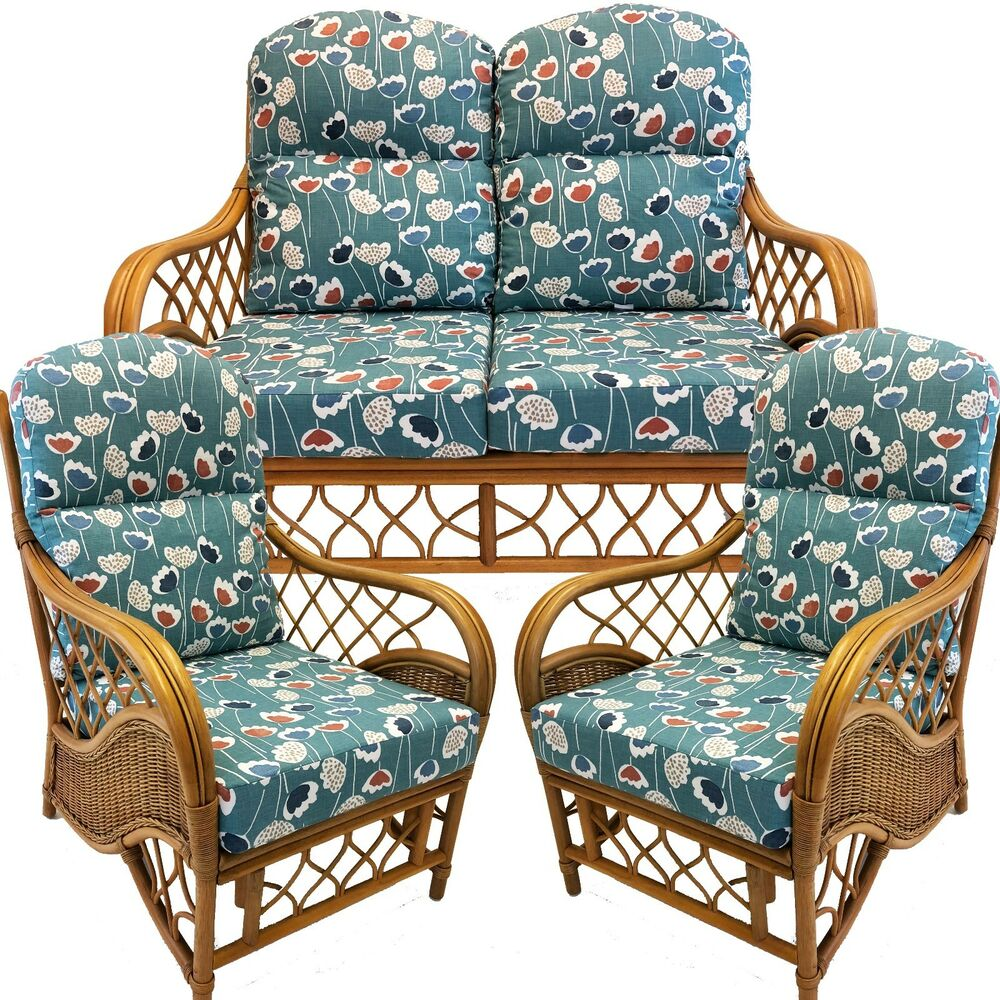 Cane And Rattan Conservatory Furniture REPLACEMENT CUSHIONS CANE CONSERVATORY FURNITURE SUITE EBay