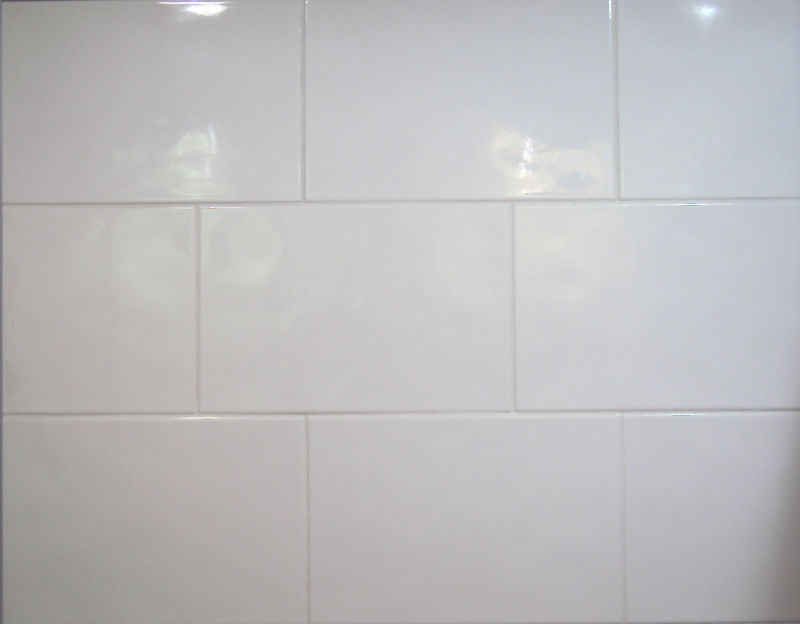 Grey Grout White Tiles Kitchen