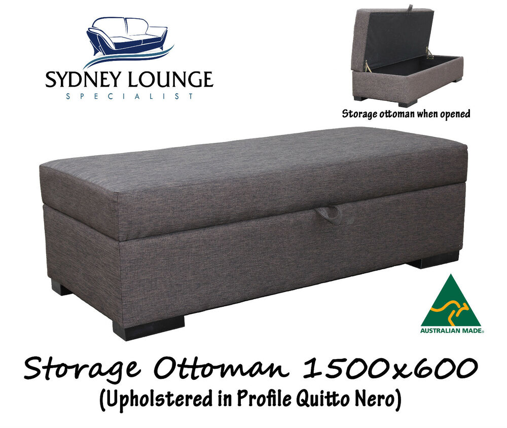 Sofa Bed Ebay Sydney: Brand New 100% Aussie Made Fabric Storage Ottoman