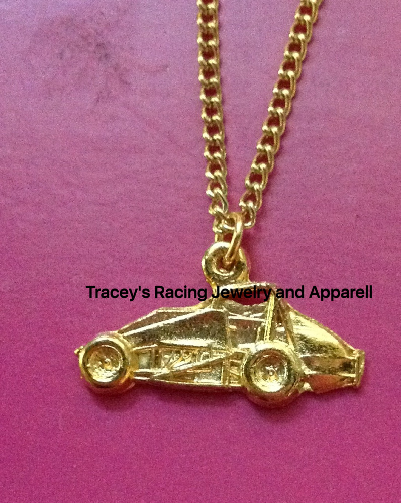 non wing usac sprint car charm necklace auto racing