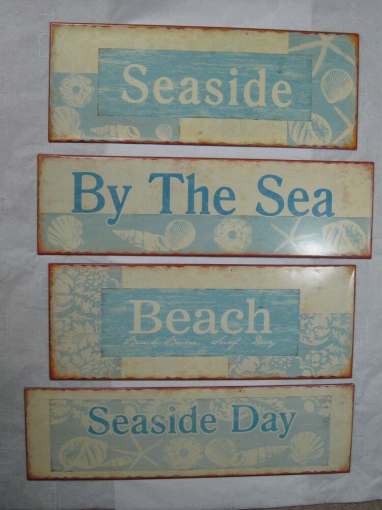 nautical beach tin signs tropical home decor 4 types ebay types of window blinds explained home amp decor singapore