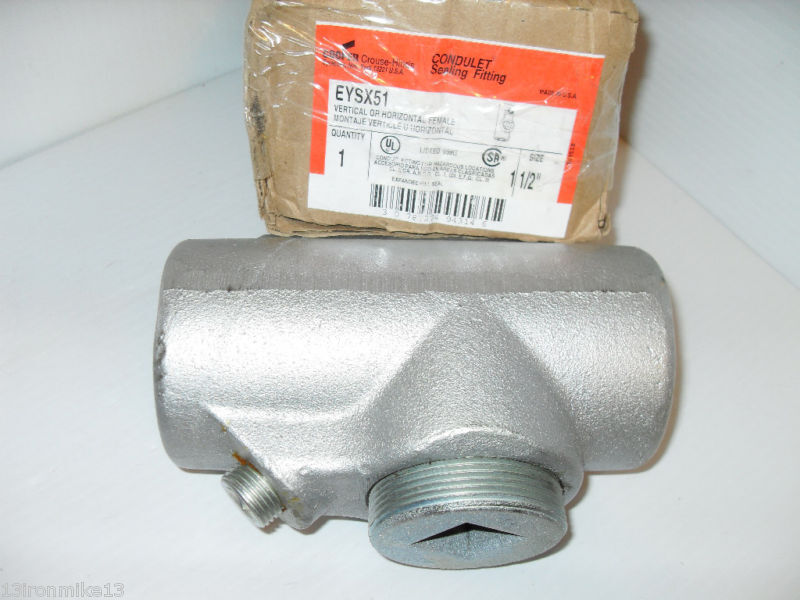 New 1 1 2 Quot Crouse Hinds Eysx51 Explosion Proof Conduit