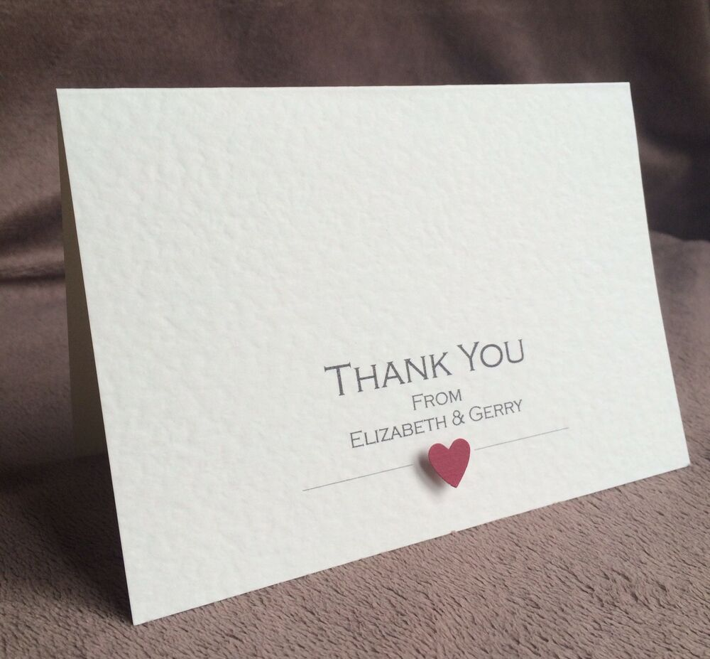 Handmade Thank You Wedding Gifts : 10 Wedding Thank You Cards (Personalised & Handmade) eBay