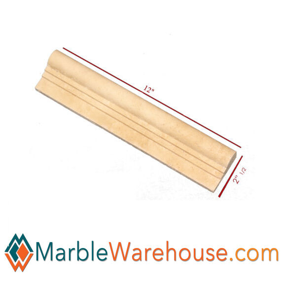 OGEE TRAVERTINE CHAIR RAIL MOLDING For Wall - HONED