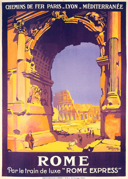 ROMAN ARCHES COLOSSEUM ITALY ROME EXPRESS TRAIN TRAVEL ...
