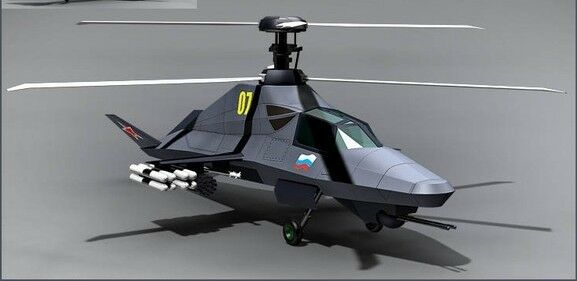 Ka-58 Russian Stealth Helicopter Wood Model FreShip New | eBay