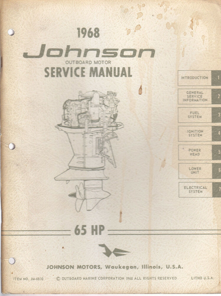 johnson outboard repair manual online