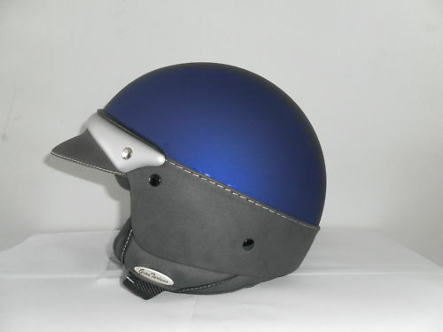 casco jet moto laura smith police blu scooter harley vintage casque vespa helmet ebay. Black Bedroom Furniture Sets. Home Design Ideas