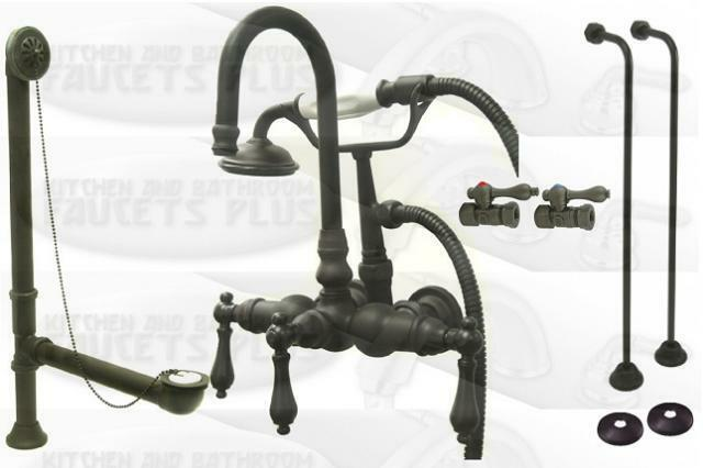 Oil Rubbed Bronze Clawfoot Tub Faucet Kit With Drain Ebay