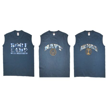 img-Army Military Style Sleeveless Cotton Muscle T Shirt Navy Air Force Printed Vest