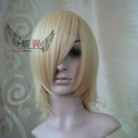 New Short Blond Cosplay Party Wig High temperature wire