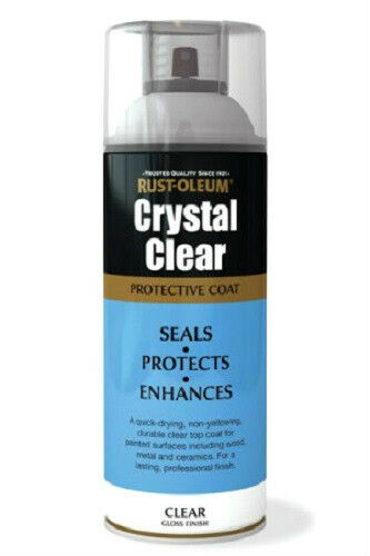 Rustoleum Crystal Clear Gloss Finish Fast Dry Spray Paint Lacquer Aerosol 400ml Ebay