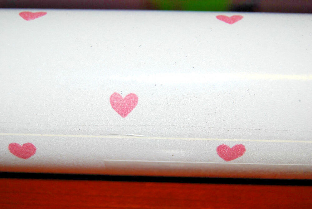 Small pink hearts on white background hugs kisses for Wallpaper rolls clearance