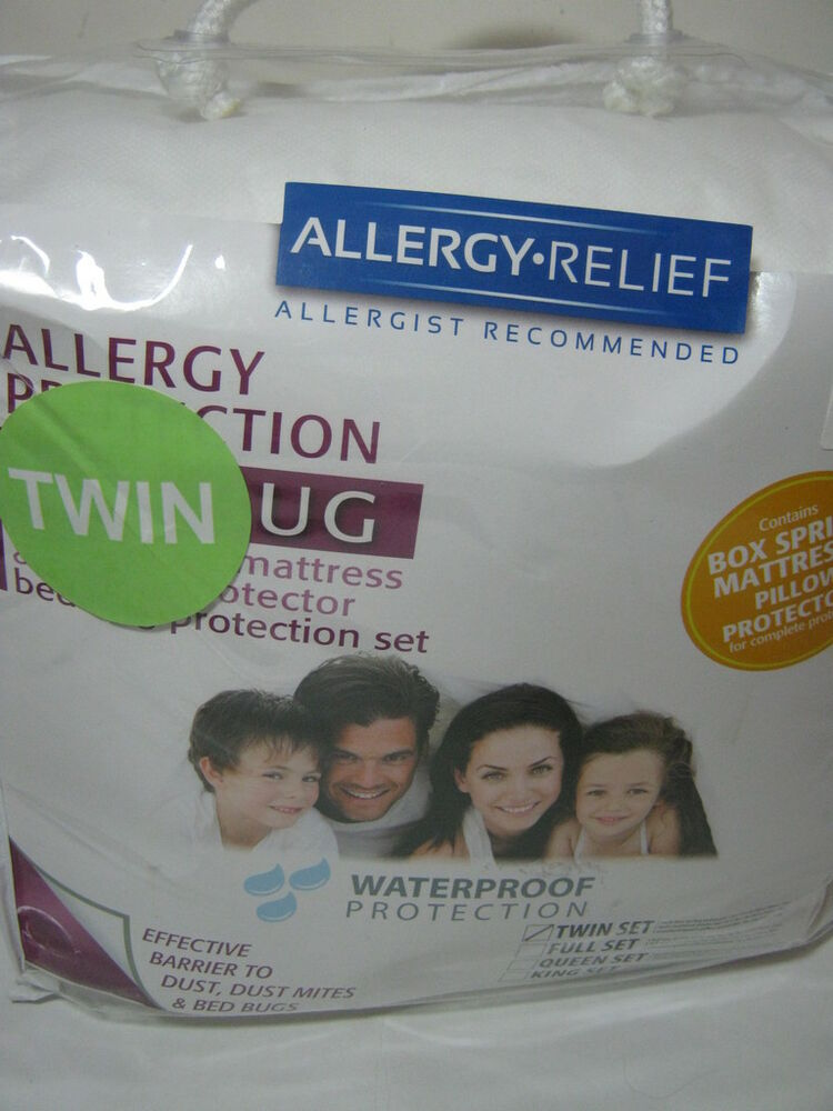 Bed Bug Mattress Cover Twin New ALLERGY BED BUGS DUST BEDDING PROCTION SET TWIN 3 Piiece Set ...