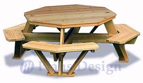 Traditional Octagon Picnic Table Woodworking Plans ...