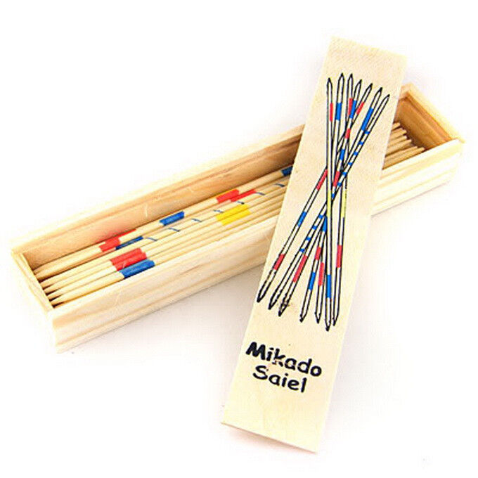 Wooden Mikado Pickup Stick Game Track Number Available Ebay