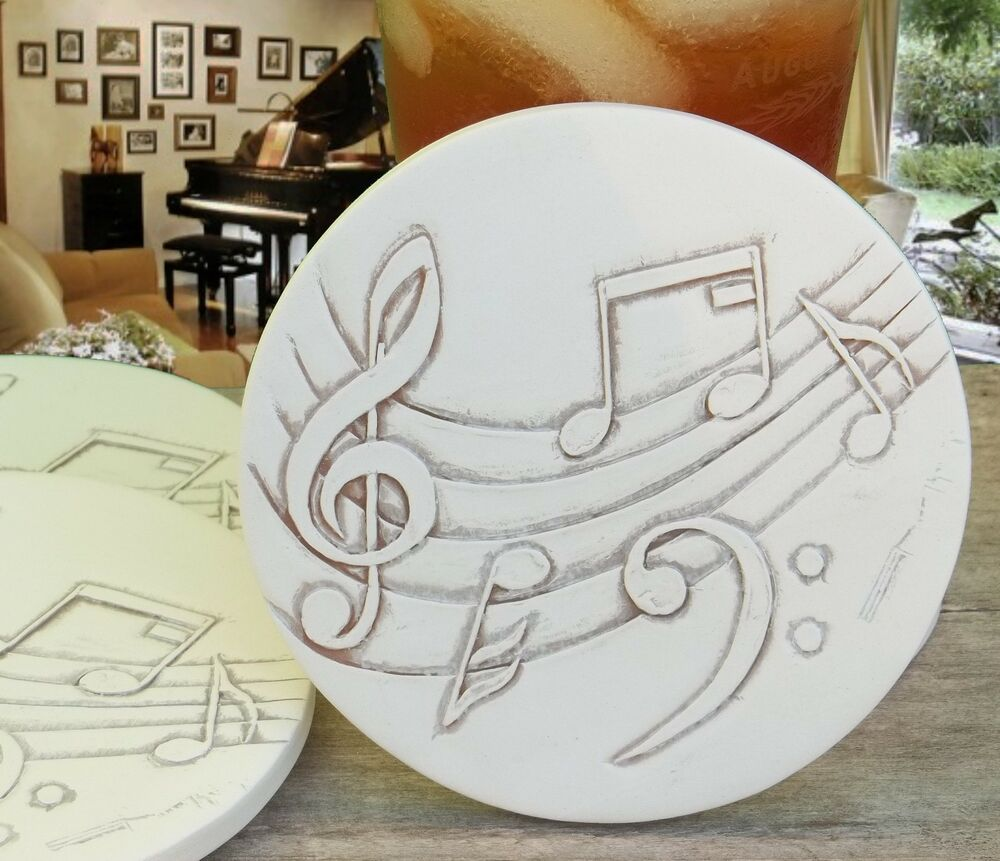 Music stone absorbent drink coasters mccarter coasters ebay - Stone absorbent coasters ...