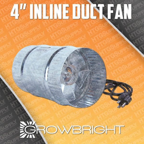 Inch inline duct booster fan exhaust blower cooling ebay