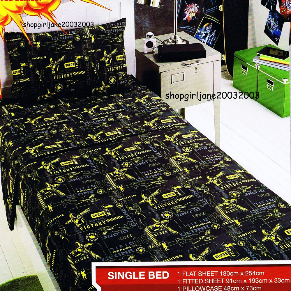 Star Wars Clone Wars Single Us Twin Bed Fitted Sheet