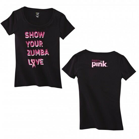 zumba 39 show your love 39 crew neck tee nwt ships fast ebay. Black Bedroom Furniture Sets. Home Design Ideas