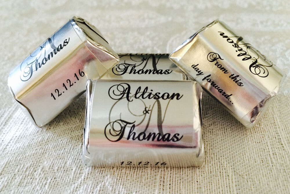 Custom Stickers For Wedding Favors 120 Silver Foil Personalized
