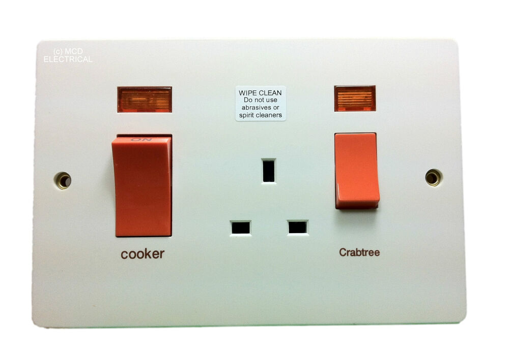 Cooker Control Unit ~ Crabtree cooker control unit larger plate ebay