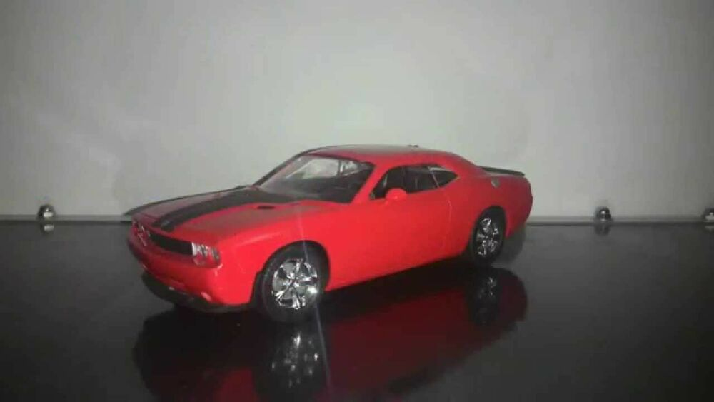 amt   dodge challenger rt car model kit  ebay