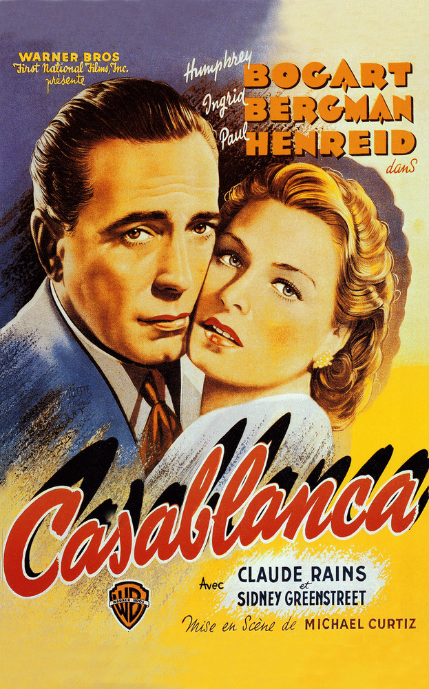 """Casablanca- 24""""x36"""" Giclee on Canvas Classic Movie Poster ..."""
