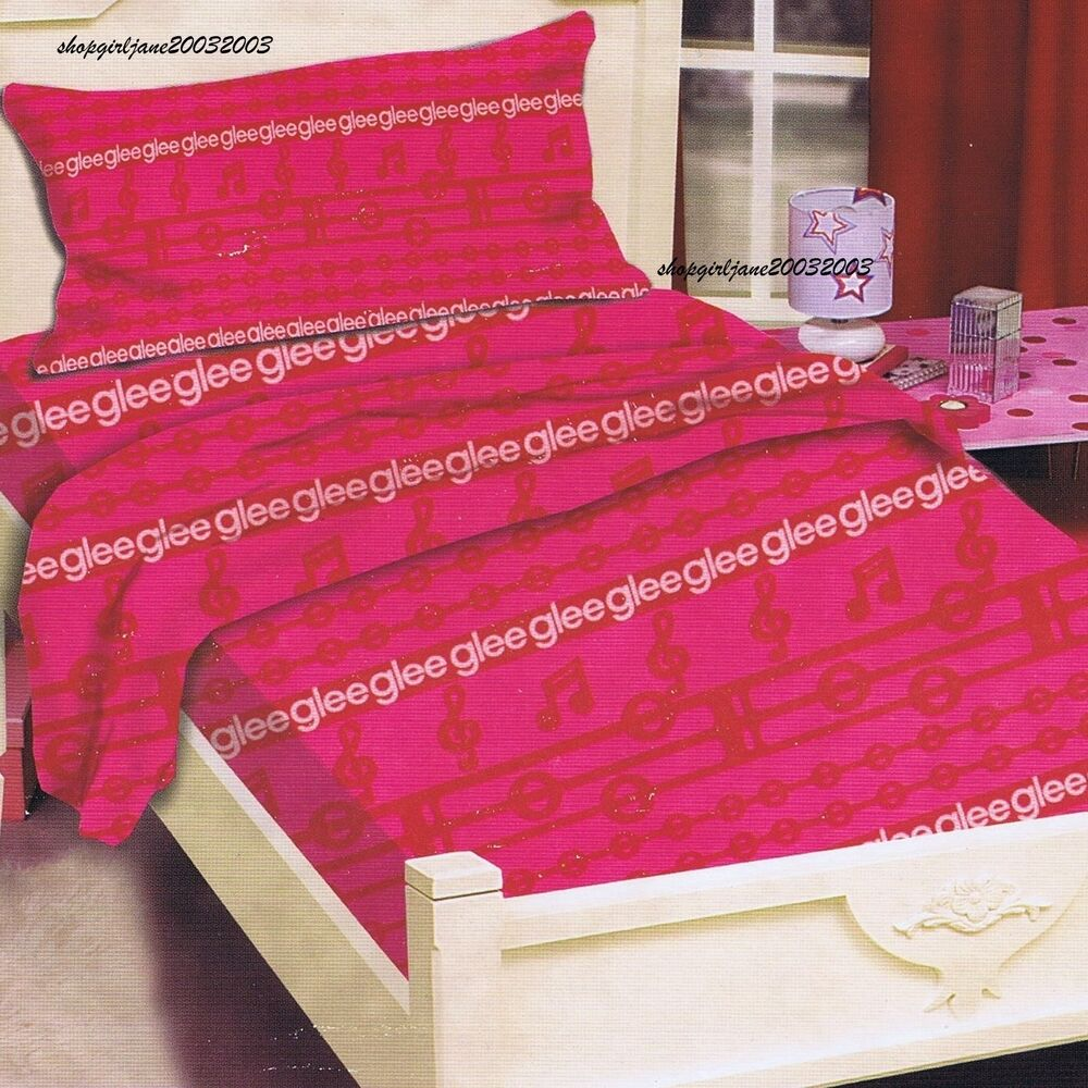 Glee single twin bed fitted sheet set ebay How to put a fitted sheet on a bed