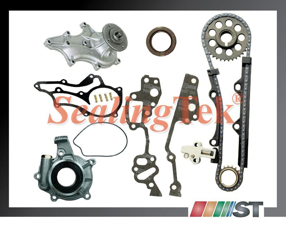 85-95 Toyota 22R 22RE Timing Chain Kit + Oil Water Pump ...