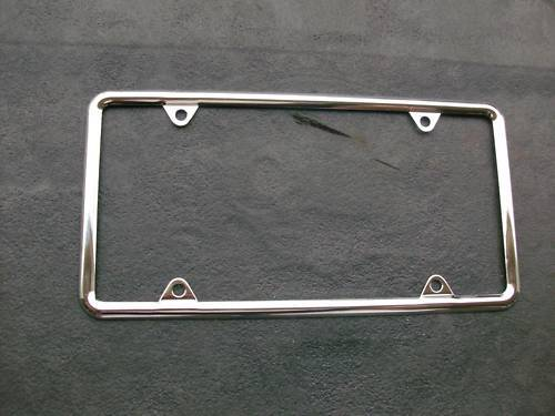 Plain Chrome License Plate Frame 1 4 Frame Vintage Cars Ebay