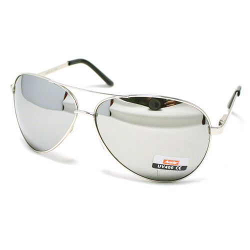 Men S Classic Cop Pilot Aviator Fashion Sunglasses Silver