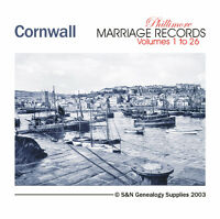 Cornwall Parish Registers - Complete Phillimore Marriage Records