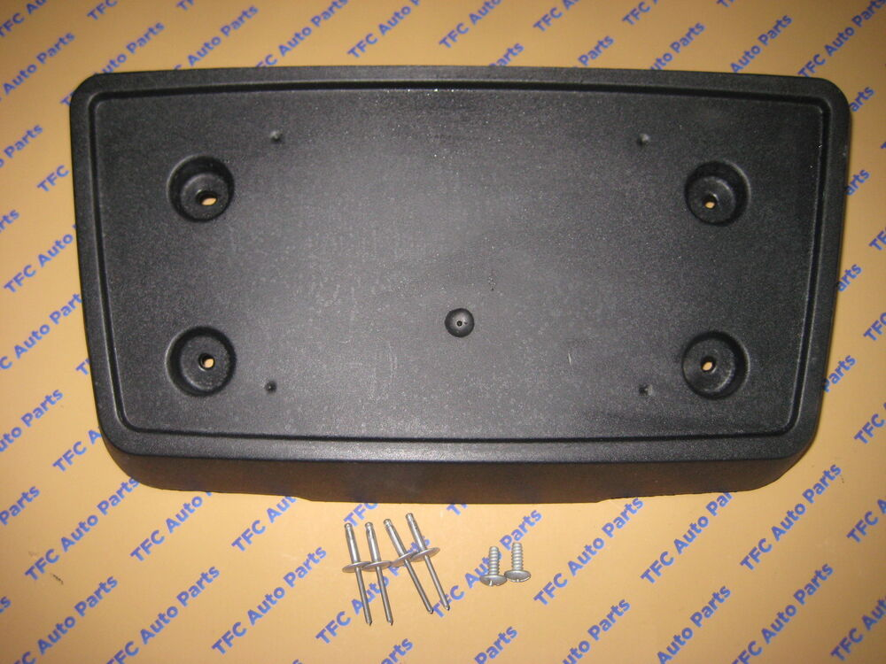 Chevy Gmc Sierra Front License Plate Bracket With Screws