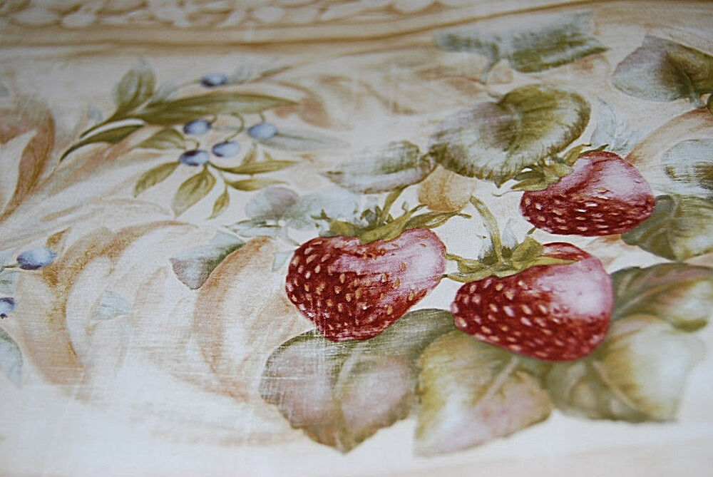 Strawberry And Blueberry Berry Fruit Wallpaper Border