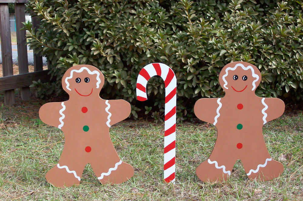 gingerbread yard decorations