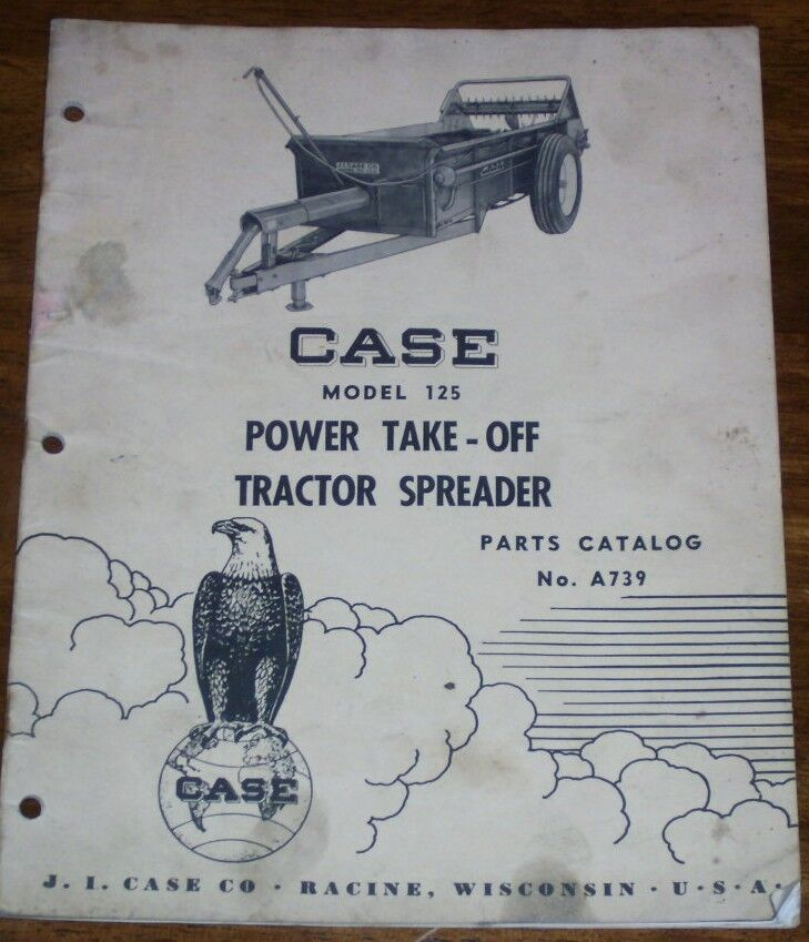 Tractor Power Take Off : Case model power take off tractor spreader parts