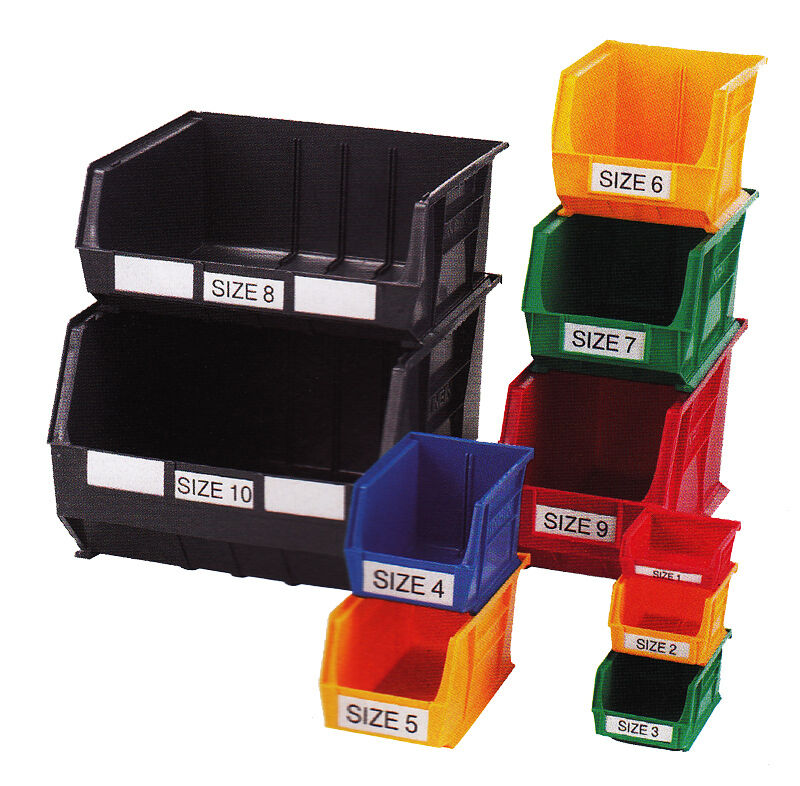 Linbin Storage Bin Open Fronted Plastic Tote Container