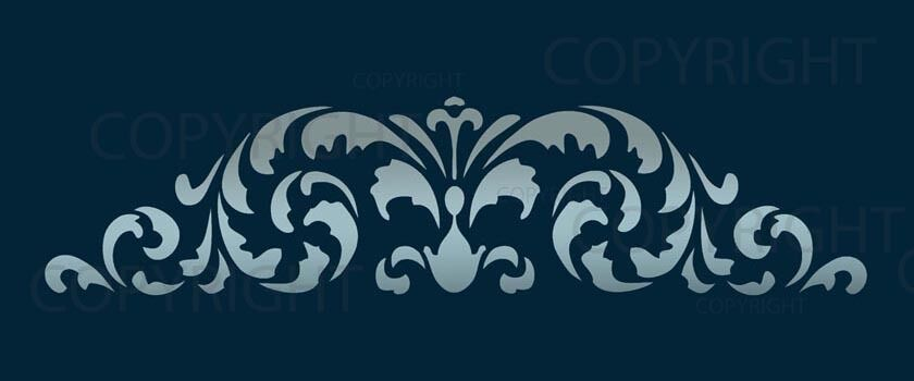 Large Wall Border Damask Stencil Pattern Faux Mural 1021