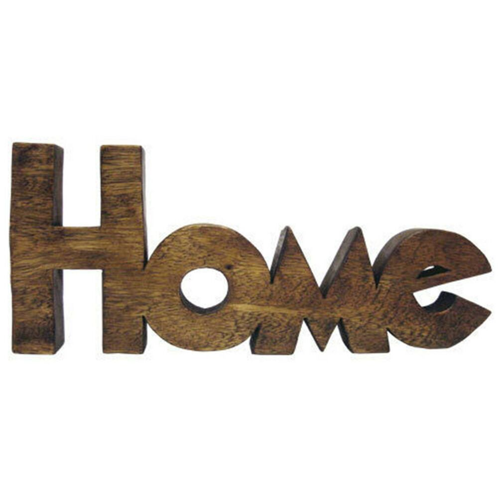 Word Art Home Decor: WORD ART HOME LETTERS 38CM SCULPTURE ORNAMENT SOLID ACACIA