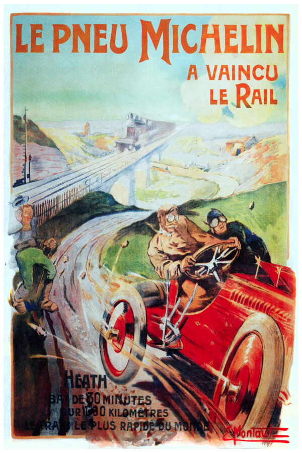 2598 michelin french racing poster car shop home decor