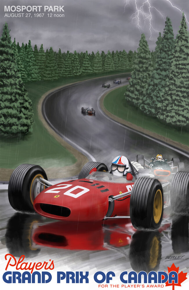 players grand prix of canada 24 x36 canvas racing poster ebay. Black Bedroom Furniture Sets. Home Design Ideas
