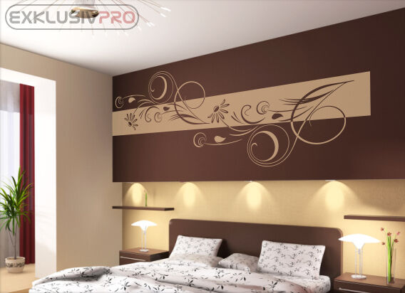 wandtattoo wandbanner adela wandaufkleber wohnzimmer. Black Bedroom Furniture Sets. Home Design Ideas