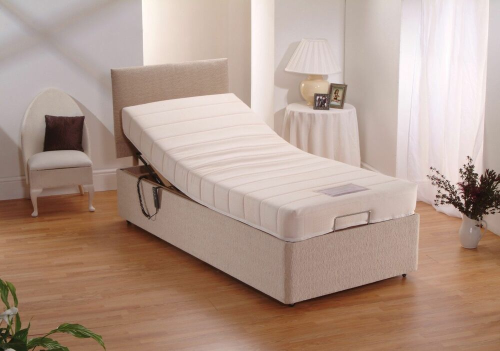 3ft Single Electric Adjustable Chenille Bed Memory Foam