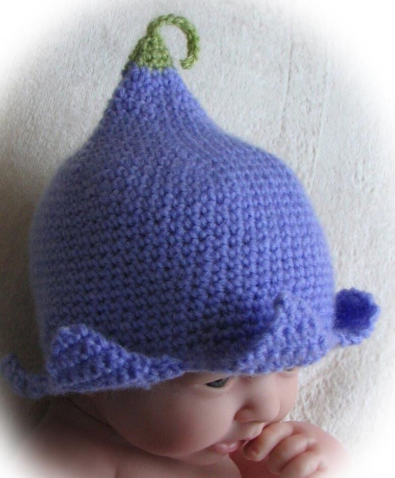 Crochet Patterns And Instructions : CROCHET PATTERN (INSTRUCTIONS) FOR BLUEBELL HAT BABY ...