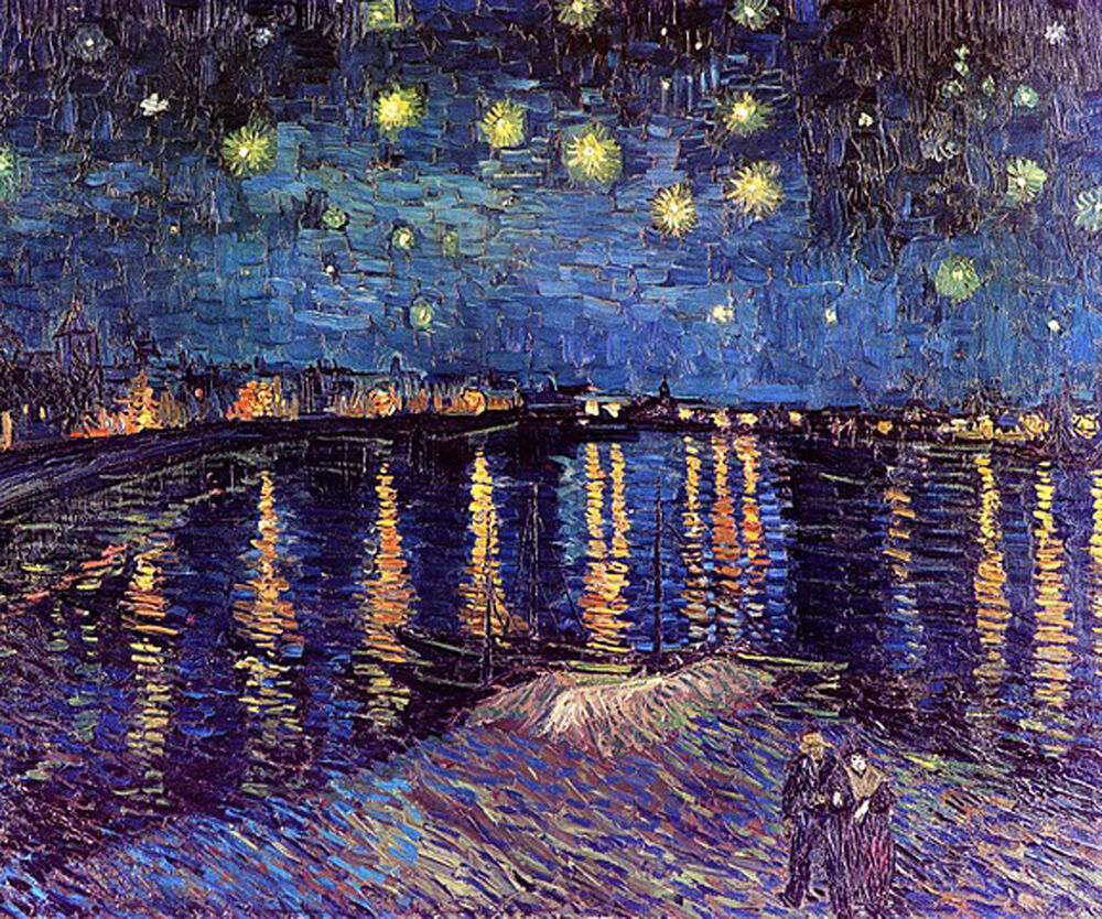 a critique of a starry night over the rhone an oil on canvas by vincent van gogh Loading starry night over the rhone by vincent van gogh $  the stunning  1888 oil was one of van gogh's three major paintings to include his now-instantly .